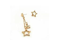 繁星點點不對稱星星水鑽耳環#030020A080015