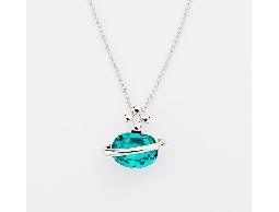 奇幻宇宙藍色水鑽星球項鍊#030020B050001