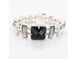 黑色華麗姿態水晶水鑽手鍊#021005D070001