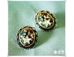 夏日復古微美星星水鑽耳環#002007A070001