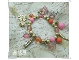 童心未泯趣味小物粉紅色珠珠手珠#027005D010002
