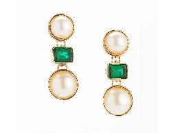 歐美精緻時尚仿珍珠耳環#031021A040001