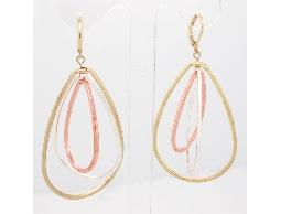 甜蜜限定驚豔款立體金色水滴造型耳環#012015A080009
