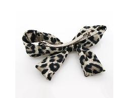 時尚百變豹紋元素蝴蝶結髮夾#012009C070004