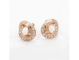 金色雙環時尚精品耳環#017014A080005