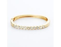 流行經典透明水鑽金色手環#028015D090001