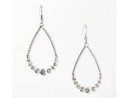 時尚亮麗垂吊水滴型水鑽耳環#030020A080004