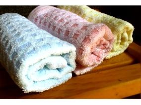 典雅格紋毛巾