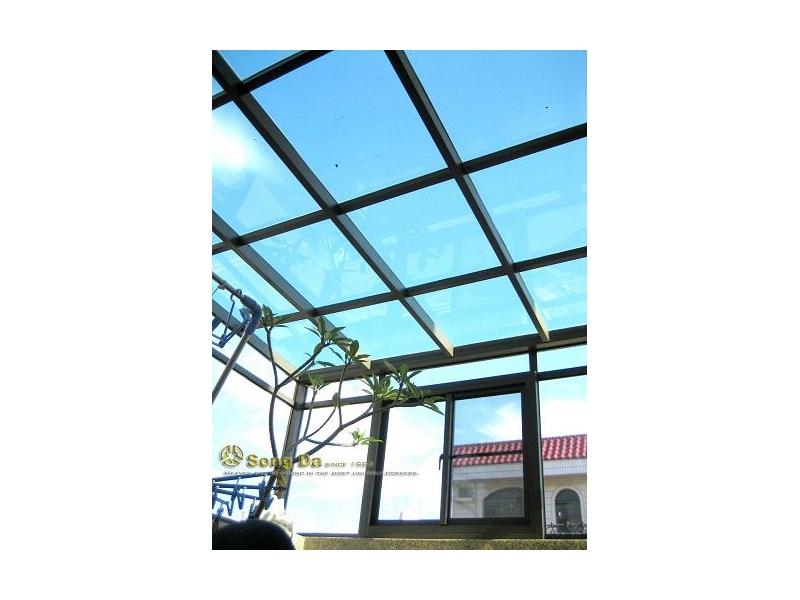 松大牌玻璃屋採光罩PC板.花園圍籬.花架.欄杆.格柵.鋁門窗