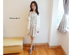 elegant‧日本復古圓點點百摺裙襬收腰棉質洋裝‧現+預