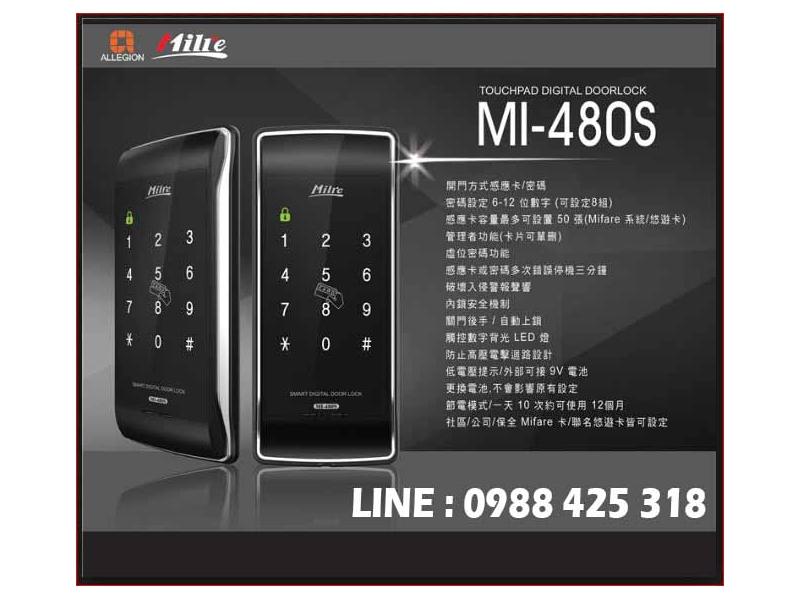 美樂Milre MI-480(公司貨)卡片、密碼雙開啟功能,相容FRID門禁可房東做權限卡