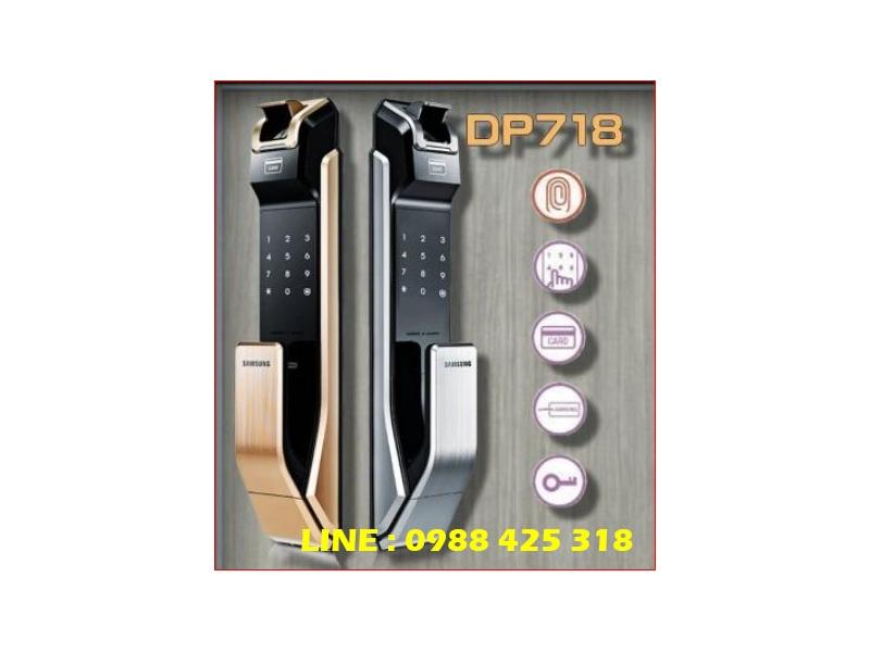 SAMSUNG三星 SHP-DP718 指紋密碼感應卡鑰匙四合一 推拉型(含安裝)