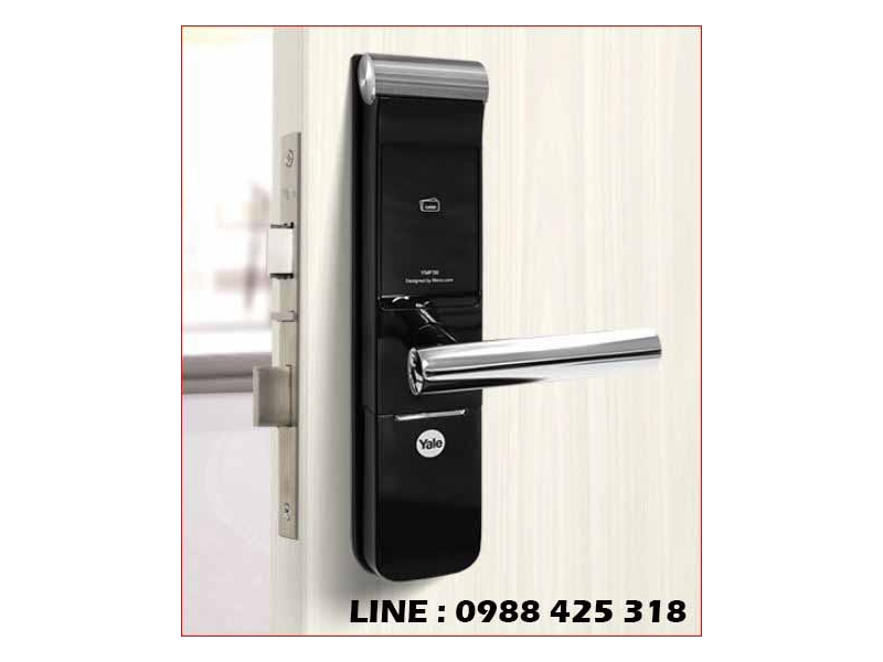【耶魯 】Yale YMF-30 熱感應觸控卡片/密碼/鑰匙智能電子門鎖相容社區門禁RFI