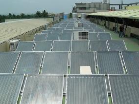 太陽能飯店熱水系統