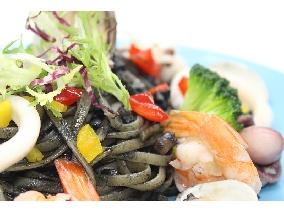 黑惡魔海鮮寬扁麵