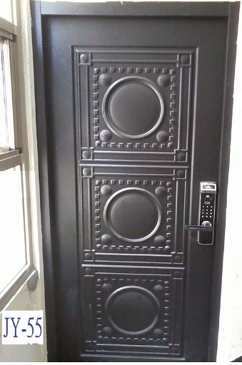 金得安指紋密碼鎖+大三元壓花玄關門
