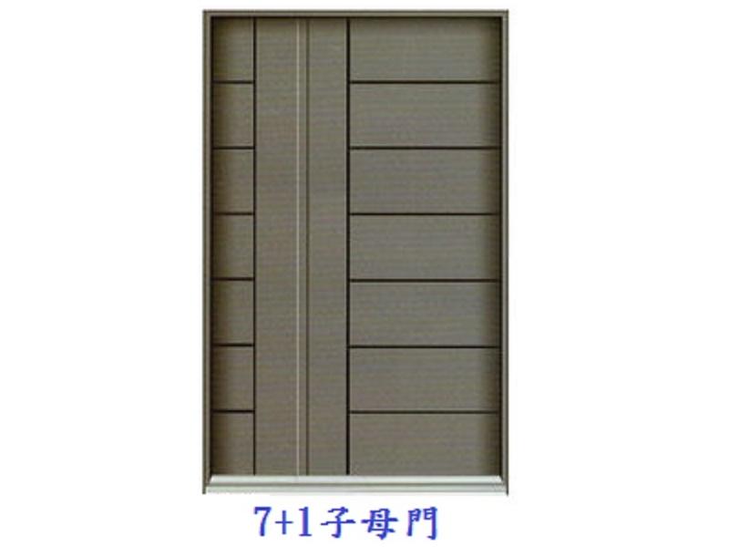 7+1子母門+指紋密碼鎖含安裝37000元~鍛造門鑄鋁門大門指紋鎖玄關門不鏽鋼門