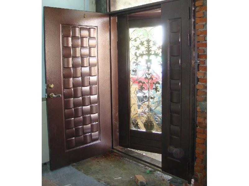 指紋密碼鎖+木編瓦雙玄關子母門含安裝57500元*子母雙玄關門鍛造門指紋鎖電子鎖鑄鋁門