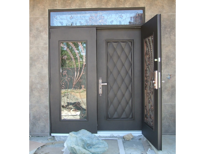 鑄鋁雙開雙玄關門+指紋密碼鎖含安裝105000元~電子鎖指紋鎖門中門鑄鋁門雙開門鍛造門
