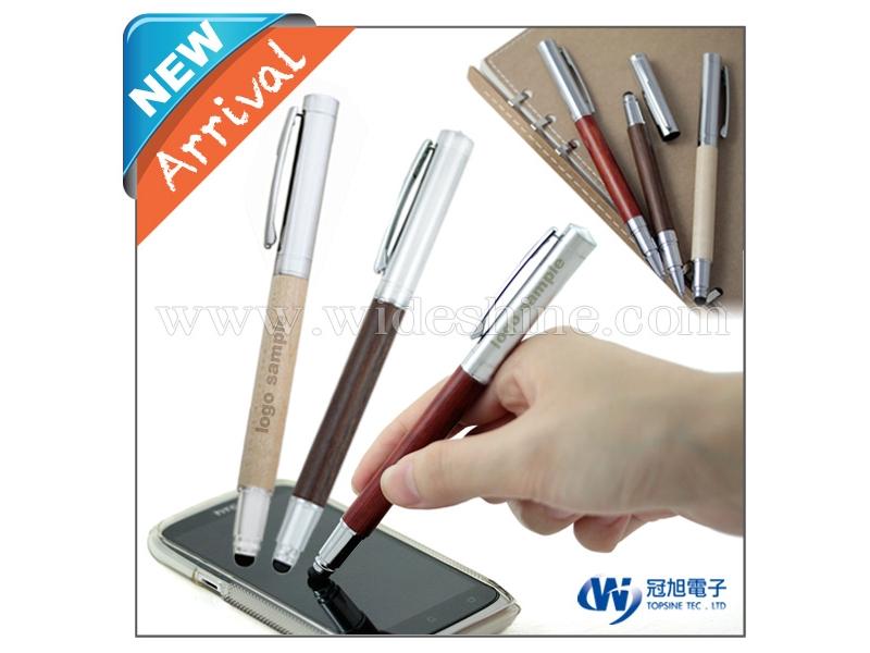 電容式觸控木紋筆 簡約設計 木頭材質 適用多家平版與智慧型手機