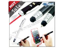 iT05s 電容式雷射觸控筆 ☆伸縮筆頭 雷射LED燈四合一筆