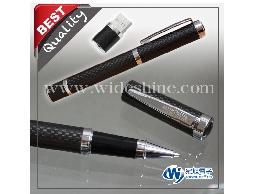 碳纖維筆碟CP01 隨身碟筆造型、採用高科技碳纖維包覆筆身外觀