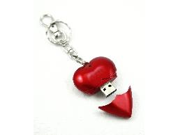愛心碟 愛心造型USB隨身碟 可印刷 婚禮小物 情人節禮物
