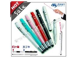 iT05 觸控筆結合原子筆、紅光雷射、LED燈、簡報人員