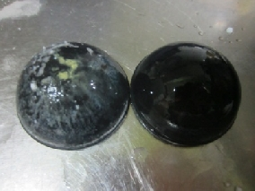 抽油煙機扇葉軸心保護蓋清潔前後