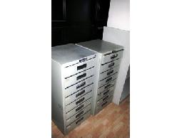 中古木紋色電腦桌100/70含中抽