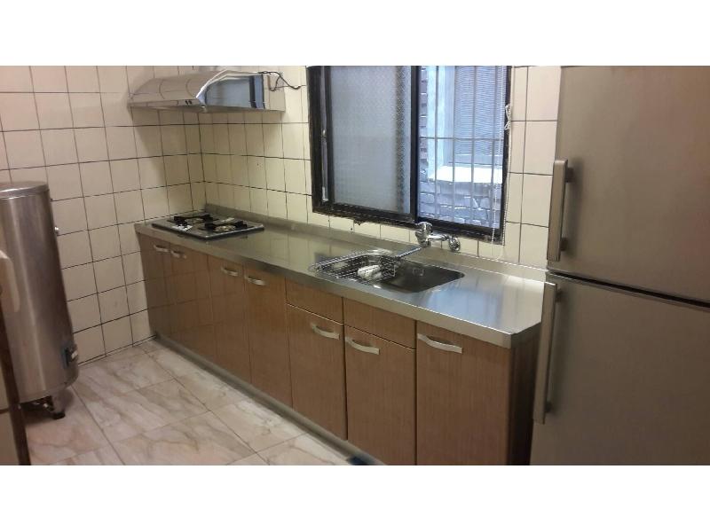 台中廚具 一字型廚具295cm白鐵台面+木質桶身0921737333◎特價◎南投廚具◎員林
