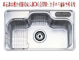 櫻花牌水槽☆韓國頂級品牌CONI☆PDS880☆單口不鏽鋼防蟑水槽☆0921737333