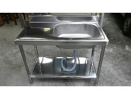 (YOYA)不鏽鋼水槽附平台100CM洗台白鐵水槽0983375500 陽台架ST100☆