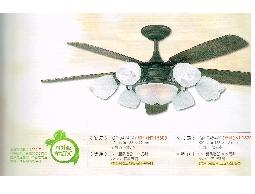 (YOYA)台製傳統吊扇整組+燈組+非洲古 胡桃木52吋6燈5葉QF-04547Z☆