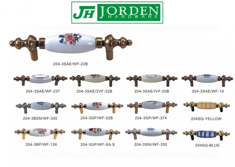 陶瓷與鋅合金組合式櫥櫃拉手