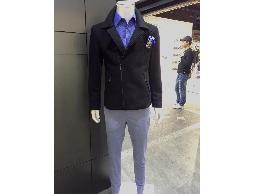 帥俊國際西服 【台灣製造】韓版潮款小羊毛短外套,窄版外套