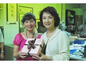 創辦人高莉真與台中市文化局局長葉樹姍合影